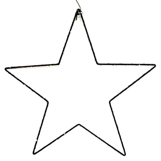 Star LED Hanging Black 60cm