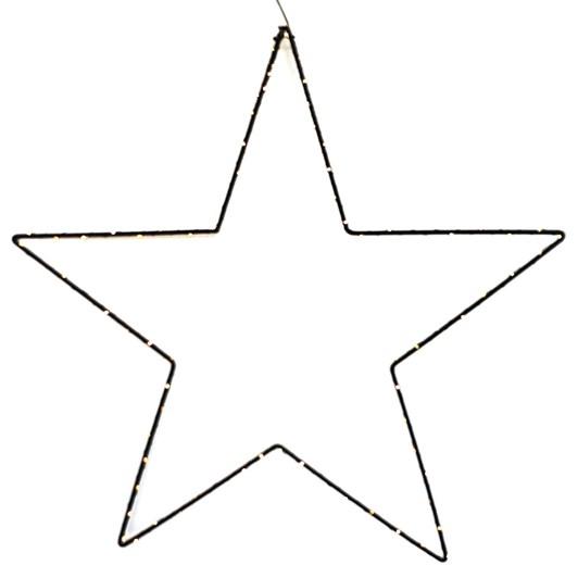 Star LED Hanging Black 80cm