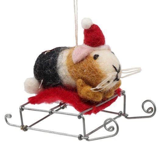 Amica Felt Mini Guinea Pig on Sledge