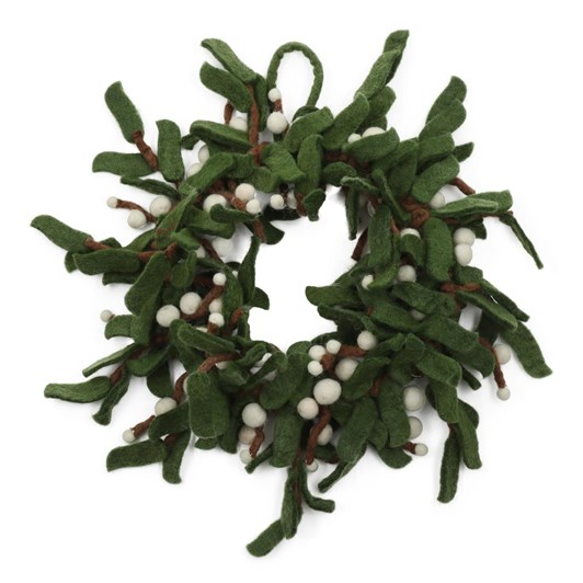 Amica Felt Mistletoe Wreath Small