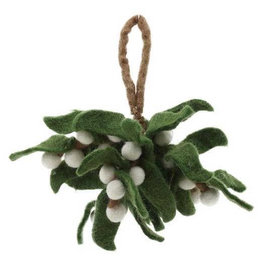 Amica Felt Sprig of Mistletoe - Small