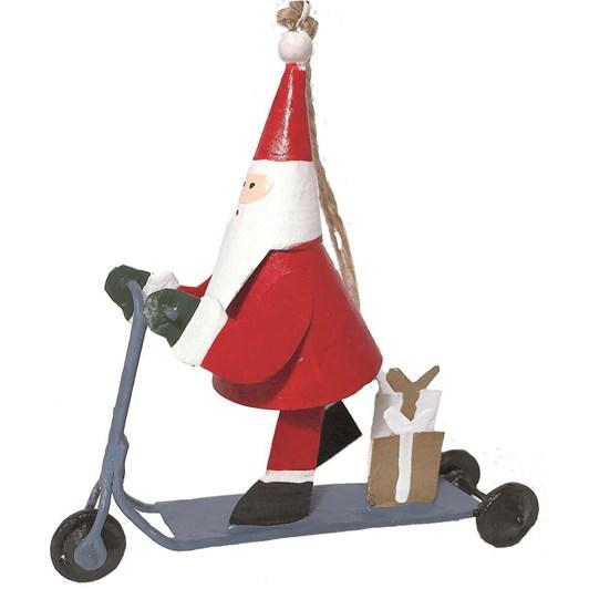 G Bork Tin Santa on Trolley