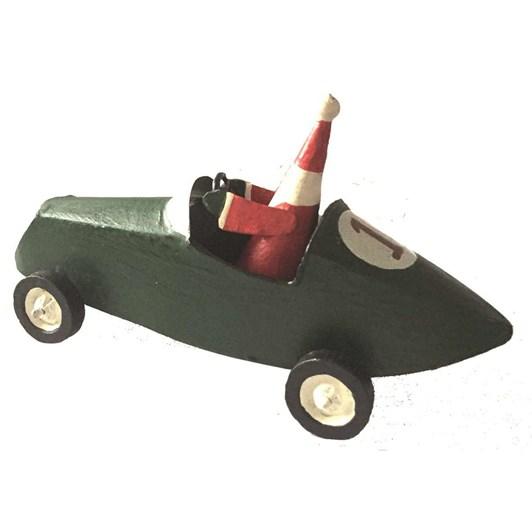 G Bork Green Sports Car with Santa