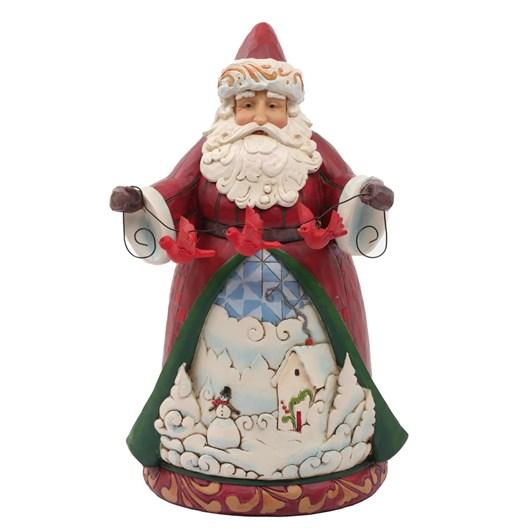 """Hwc 9"""" Santa With Cardinal Garland"""