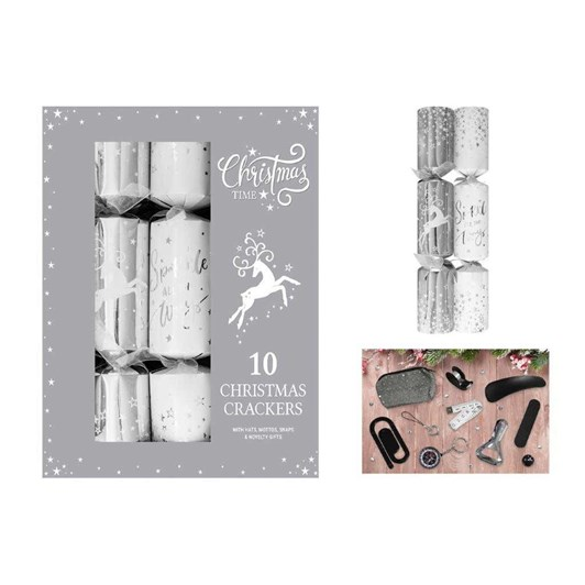 Image Gallery Luxury Silver Crackers 10x14