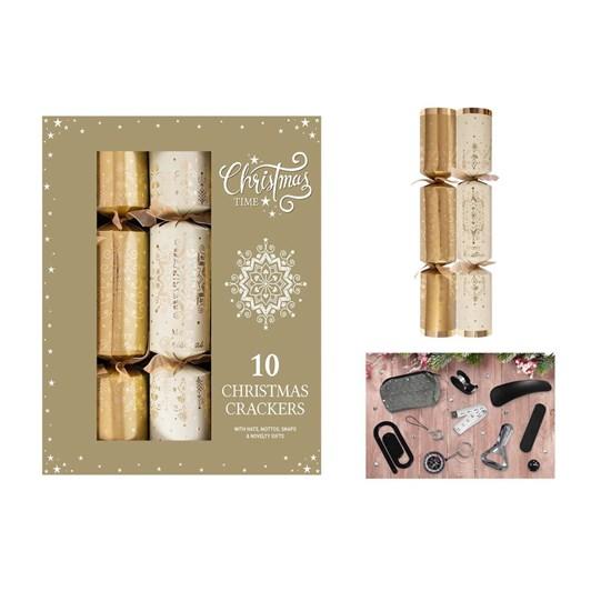 Image Gallery Luxury Gold Cream Crackers 10x14
