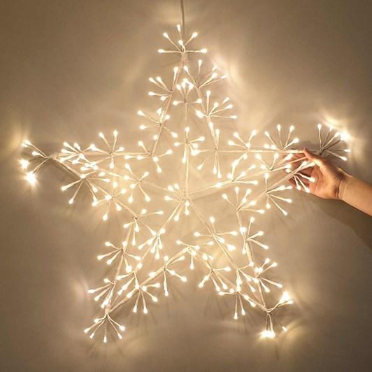 Stellar Haus Champagne Warm White Star With 204 Lights 60cm