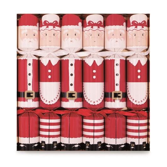 Well Presented Mr & Mrs Santa Crackers Box Of 6