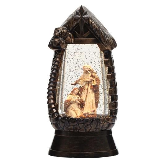 Nativity Lantern Black