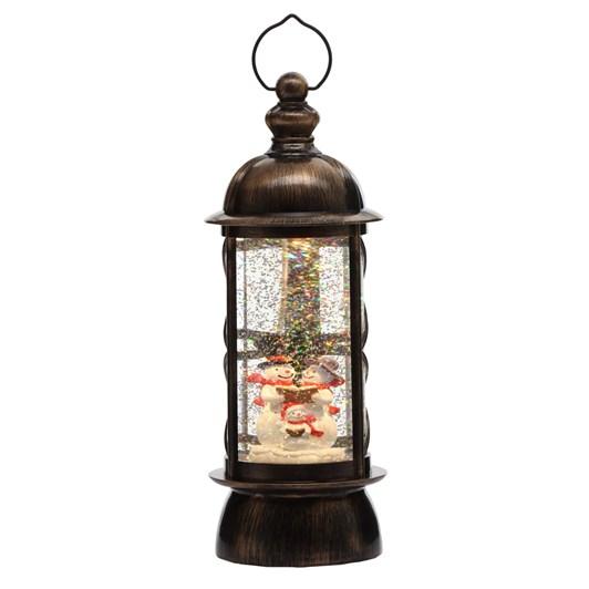 Snowman Lantern Antique Brass