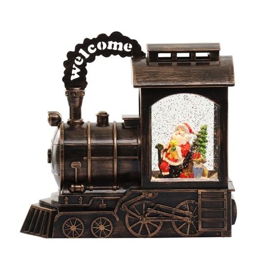 Train Lantern Santa Black