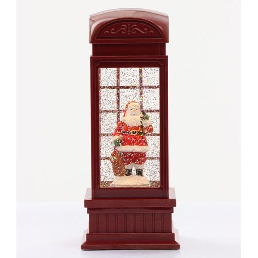 Telephone Box Santa Red