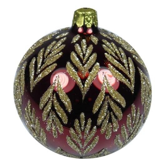 Ballantynes 8 Cm Ball, Redbrown Shiny - Medusa