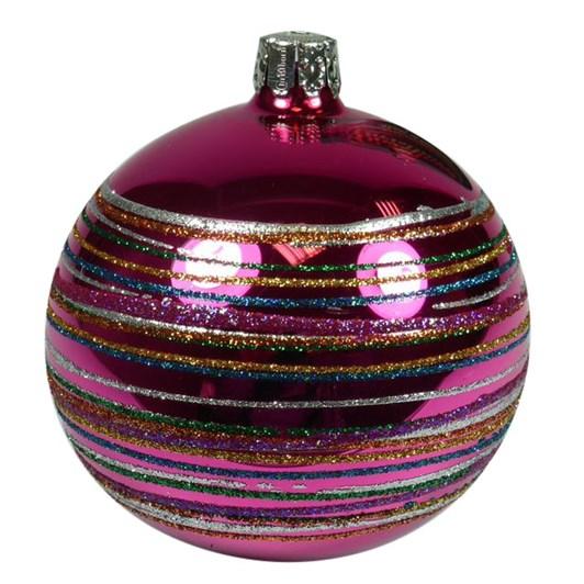Ballantynes 8 Cm Ball, Pink Shiny - Crazy