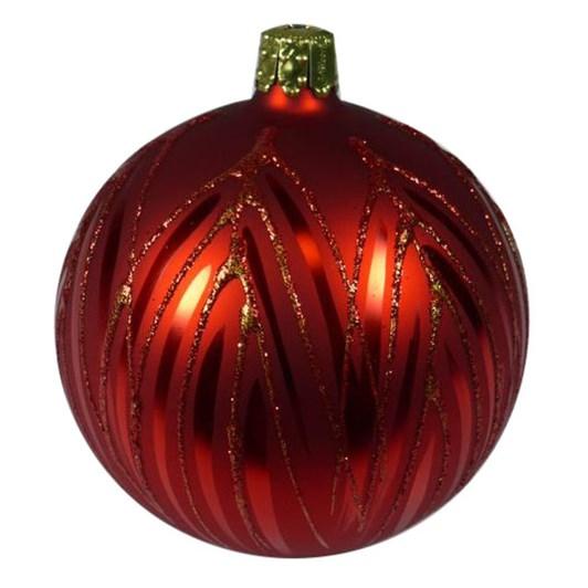 Ballantynes 8 Cm Ball, Red Matt - Palm Tree