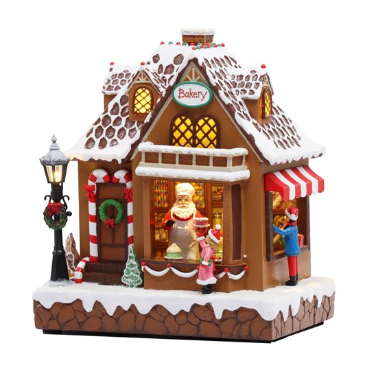 Resin Gingerbread House With Music 9½ Inch