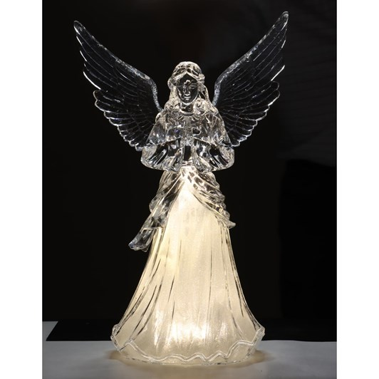 Acrylic Angel With Trumpet 24 Inch