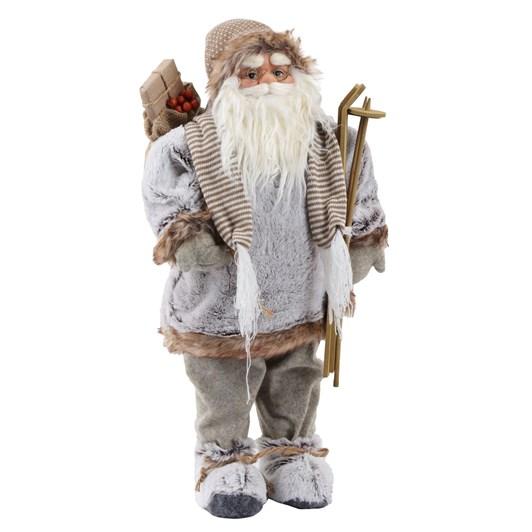 Santa Standing With Woollen Coat & Boots 24 Inch