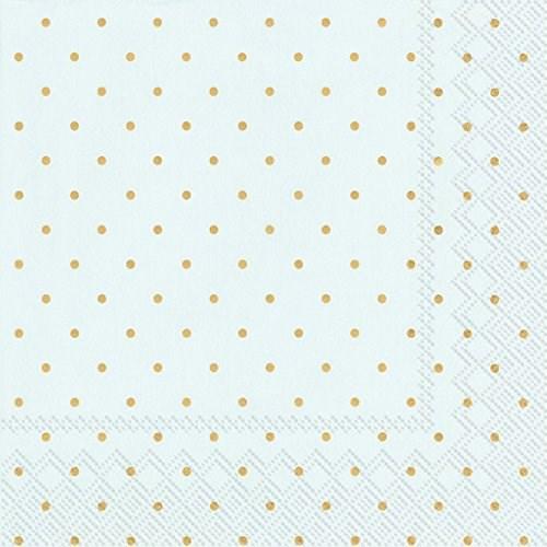 IHR Fine Dots Blue Gold Luncheon Napkin