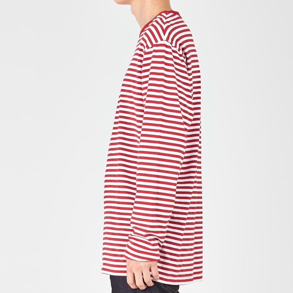 Huffer L/S Stripe Tee - red white