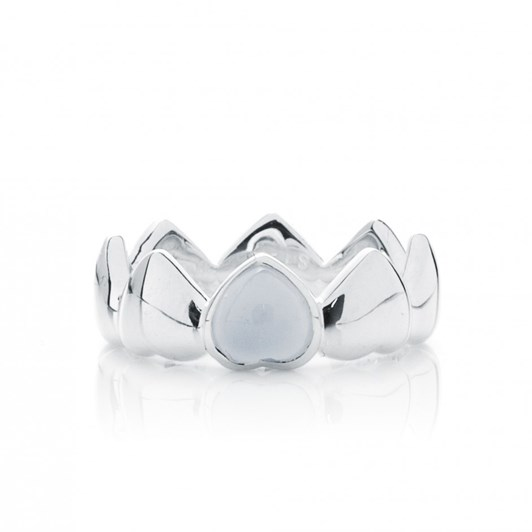 Stolen Girlfriends Club Band Of Hearts Ring Chalcedony