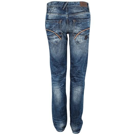 Blend Slim Fit Jeans W/ Leather Trim Pocket