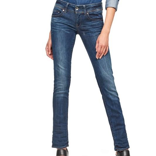 G-Star Midge Saddle Mid Straight Jean Wmn