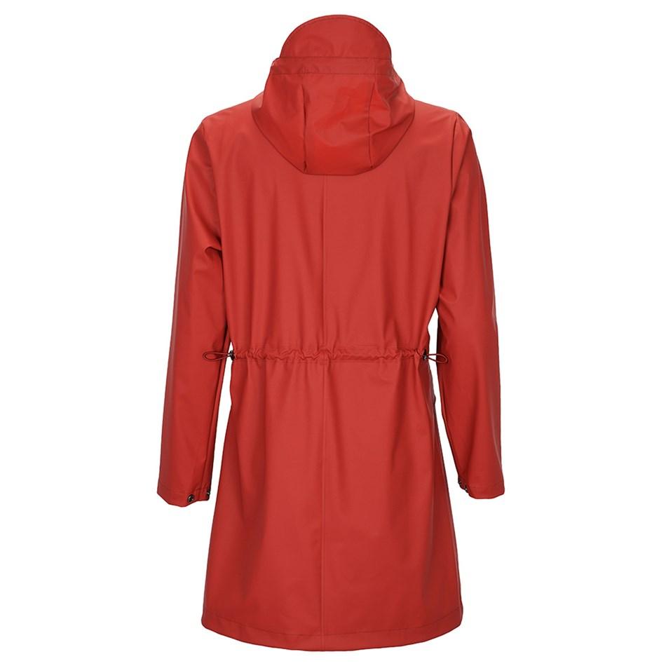 Rains W Coat - scarlet