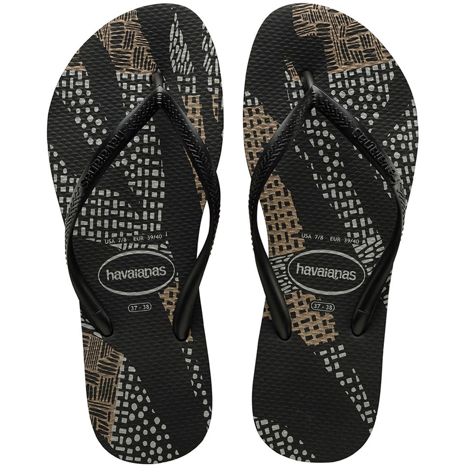 Havaianas Slim Native 9443 - black rose gold