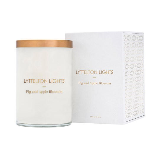 Lyttelton Lights Fig And Apple Blossom Candle
