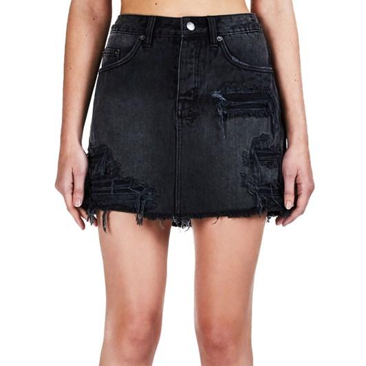 Ksubi Mini Moss Skirt Recall Black