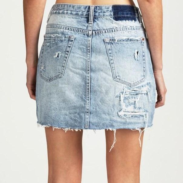 Ksubi Mini Moss Recall Blue Skirt -