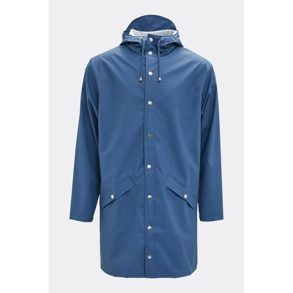 Rains Long Jacket - faded blue