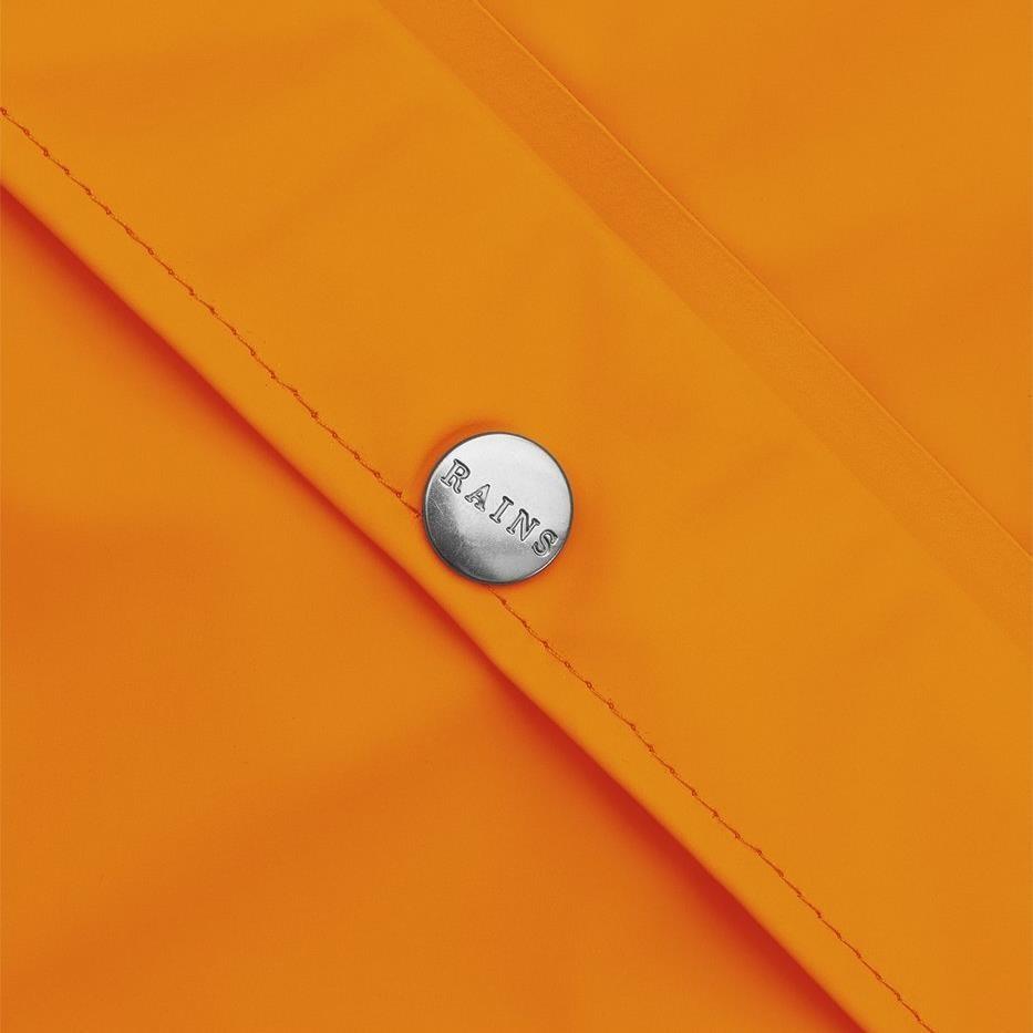 Rains Long Jacket - fire orange