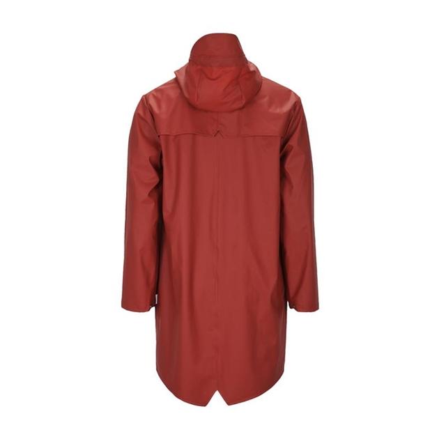Rains Long Jacket - scarlet