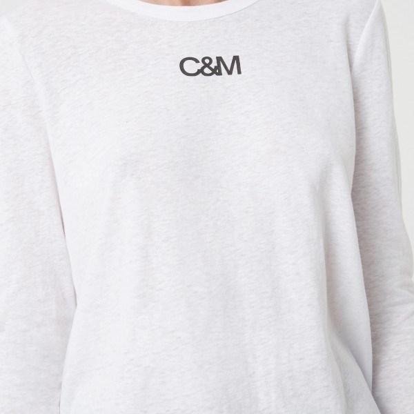 C&M Ligero L/S Tee - white black logo