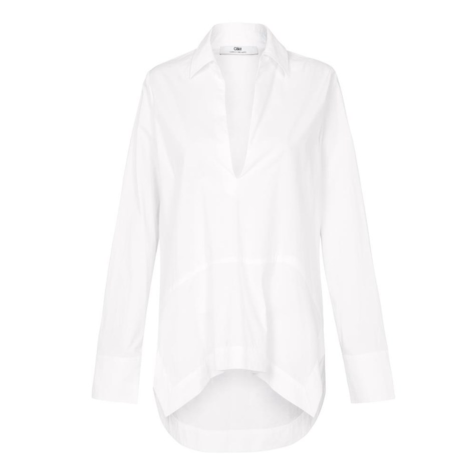 C&M Reynard V Neck Shirt - white