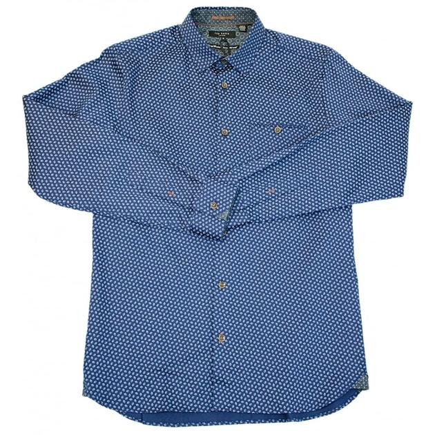Ted Baker Leafgeo Ls Leaf Print Shirt -