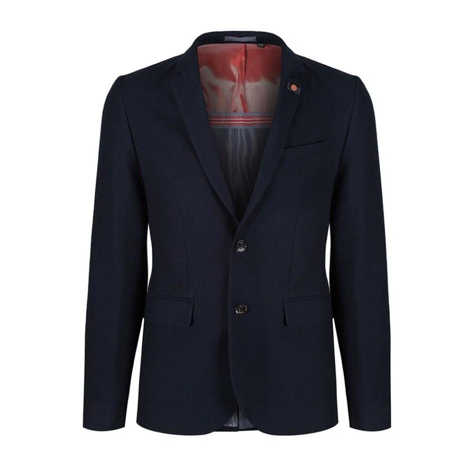 Ted Baker Olsson Semi Plain Jacket - 10 navy