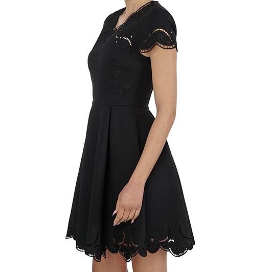 Ted Baker Saloane V Neck Embroidered Skater Dress