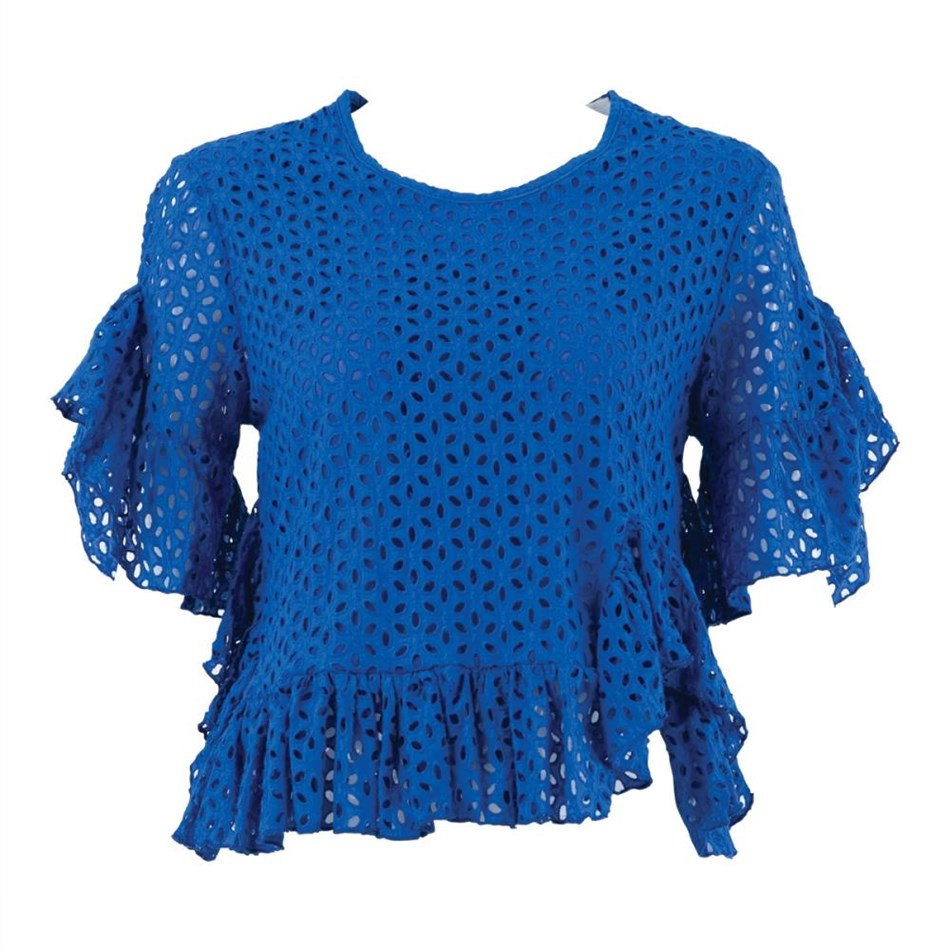 Coop Sweet Chilly Frilly Top - cobalt