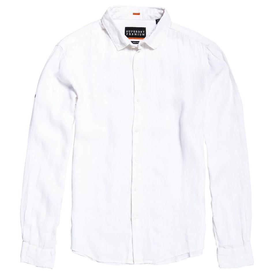 Superdry Premium Wash Linen L/S Shirt - dvh optic