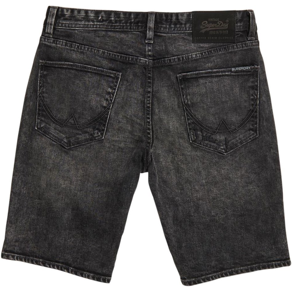 Superdry Officer Slim Short - 7hm lost lake black