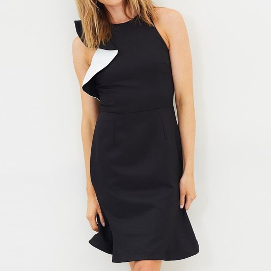 Cooper Street Jasmine High Neck Fitted Dress