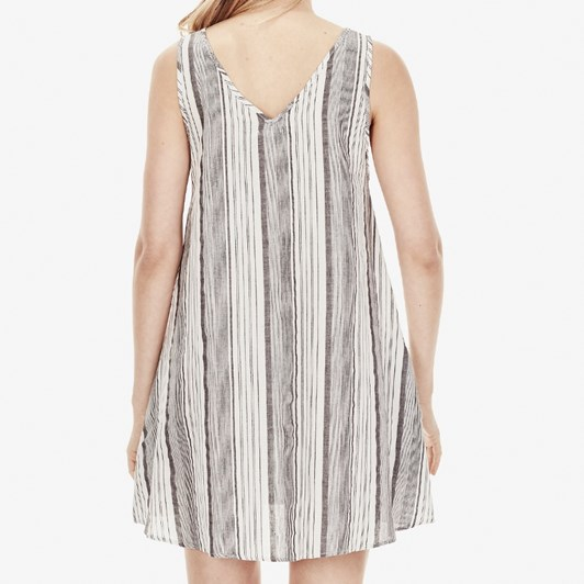Commoners Womens V Neck Shift Dress