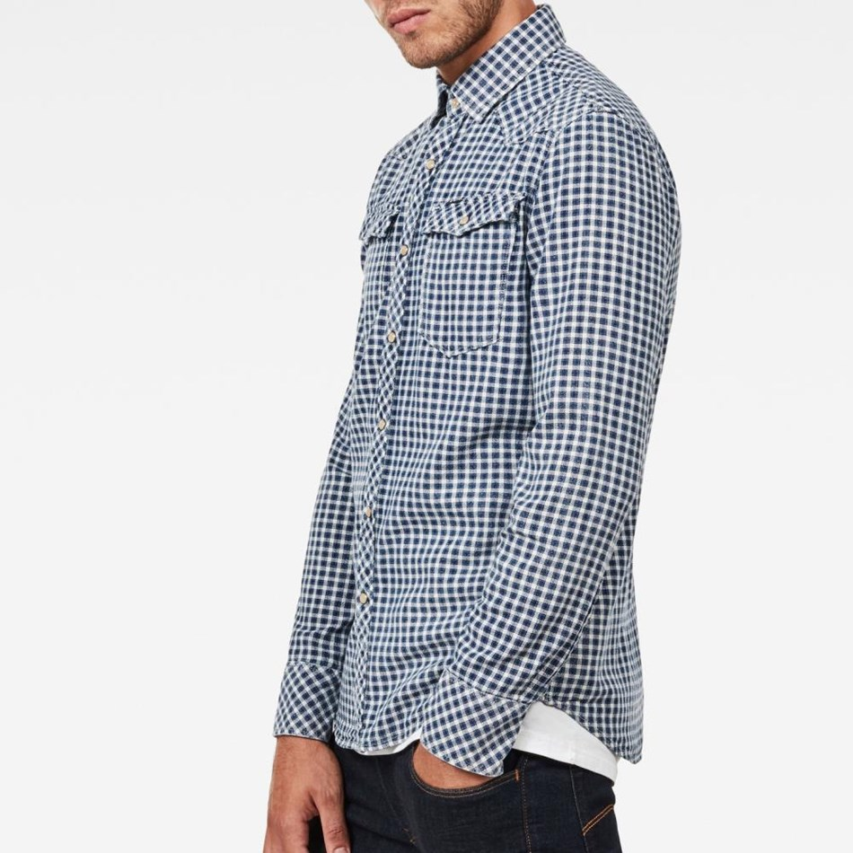 G-Star 3301 Shirt L/S - hudson blue-indi