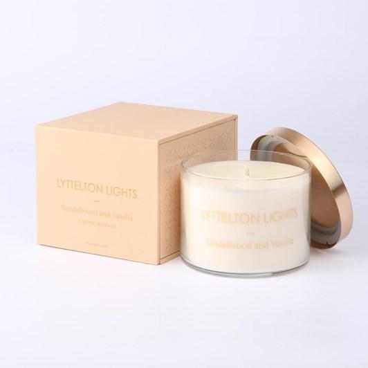 Lyttelton Lights Sandalwood And Vanilla Candle