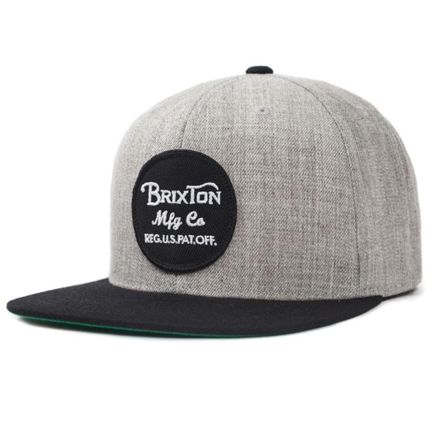 Brixton Wheeler Snapback - heather grey black