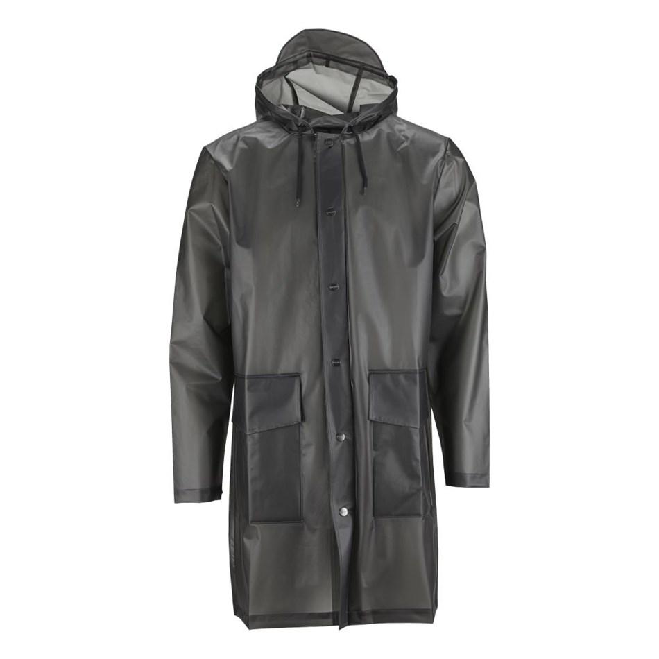 Rains Hooded Coat - transparent black