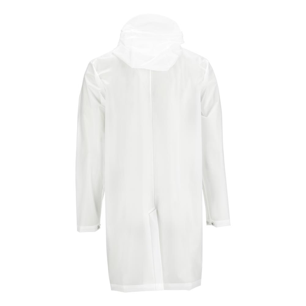 Rains Hooded Coat - transparent white